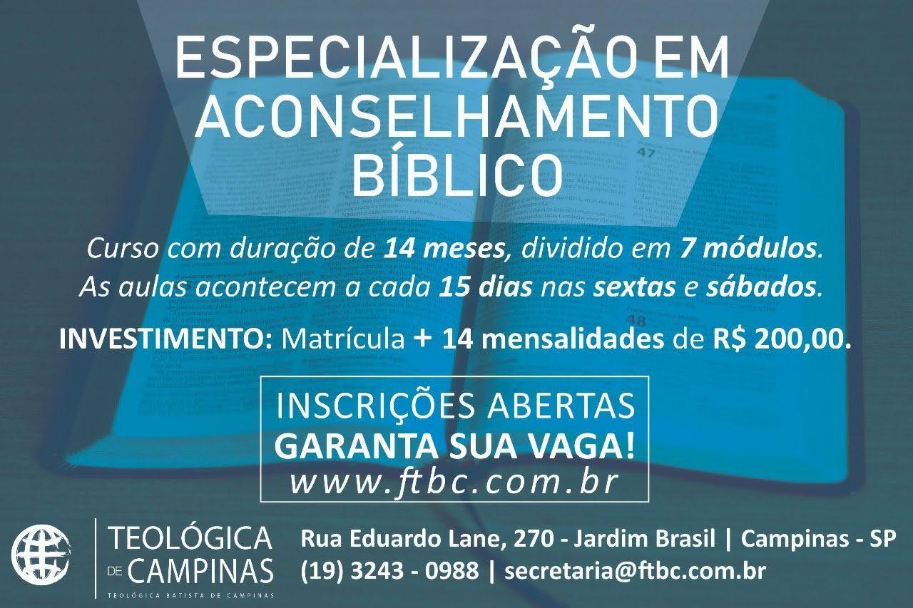 especialização em aconselhamento bíblico